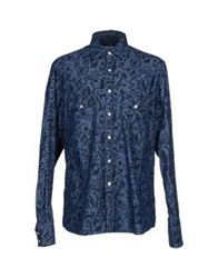 Hentsch Man Denim Shirts Blue