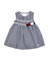 Mayoral Gingham Smock Dress Size 6 36 Months Blue