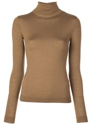 Vince Turtle Neck Sweater Brown