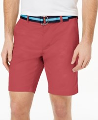 Club Room Men's Classic Fit Stretch Shorts Created For Macy's Summer Melon