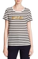 Women's Kate Spade New York 'Queen Bee' Stripe Cotton Tee