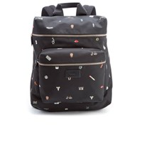 Paul Smith Men's Cufflink Print Nylon Rucksack Black
