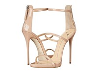 Giuseppe Zanotti High Heel Back Zip Three Strap Sandal Ver Blush Women's Shoes Gold