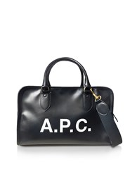 A.P.C. Handbags Sylvie Black Signature Large Satchel Bag