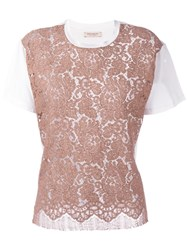 Erika Cavallini Lace T Shirt Nude And Neutrals
