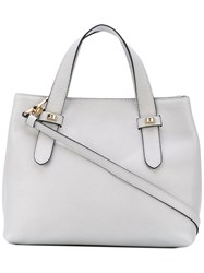 Borbonese Double Handle Shoulder Bag Women Leather Polyester One Size Grey