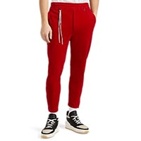 Mastermind Japan Cotton Blend Velour Track Pants Red