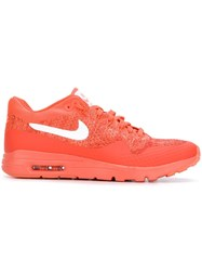 Nike 'Air Max 1 Ultra Flyknit' Sneakers Yellow And Orange