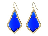 Kendra Scott Alex Earring Gold Cobalt Cats Eye Earring Blue