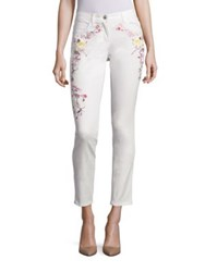 Etro Floral Embroidered Jeans White