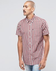 Barbour Shirt In Tartan Check Short Sleeves In Tailored Slim Fit In White White