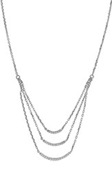 Women's Bony Levy 'Ella' Diamond Multilayer Curved Bar Pendant Necklace White Gold Nordstrom Exclusive