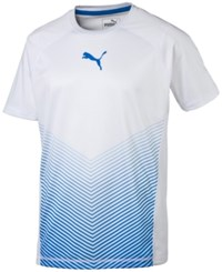 Puma Men's Pwrcool Vent Cat T Shirt White Blue