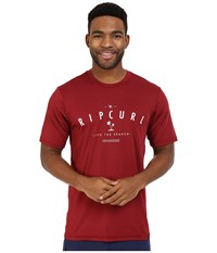Rip Curl Search Series Graphic Short Sleeve Red Men's Swimwear
