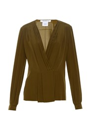 Givenchy Pleated Front Silk Crepe Blouse