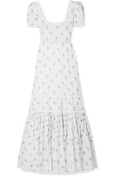 Loveshackfancy Ryan Lace Trimmed Printed Cotton Voile Maxi Dress White