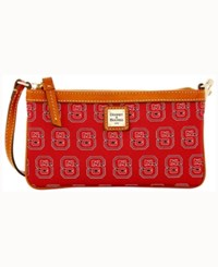 Dooney And Bourke North Carolina State Wolfpack Large Wristlet Red