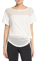 Free People Women's Hourglass Mesh Tee White