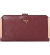 Dune Kassia Gold Trim Purse Berry Plain Synthetic