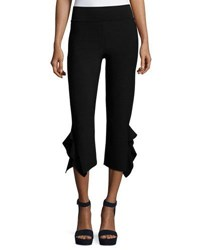 Opening Ceremony Ruffle Trim Cropped Ponte Pants Black