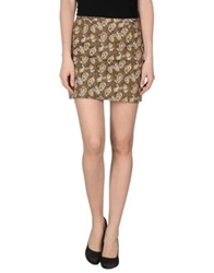 Blu Byblos Mini Skirts Khaki