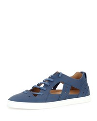 Fendi Cutout Low Top Sneaker Sandal Blue