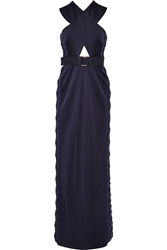 Marc Jacobs Embellished Cutout Stretch Satin Jersey Gown