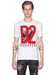 Dsquared D2 Military Glam Cotton Jersey T Shirt