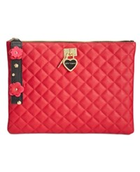 Betsey Johnson Quilted Pouch Red