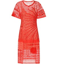Stella Mccartney Carlotta Lace Dress Red