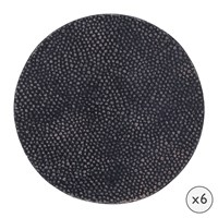 Amara Speckled Stingray Leather Coasters Round Set Of 6