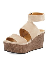 Max Platform Wedge Sandal Nude Coclico Brown