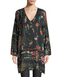 Johnny Was Canvasita Floral Print Long Sleeve Easy Blouse Multi Print A