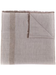 Lorena Antoniazzi Two Tone Knitted Scarf Neutrals