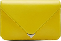 Alexander Wang Yellow Leather Prisma Envelope Clutch