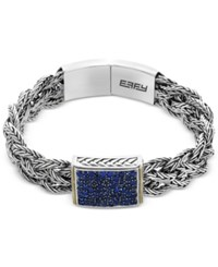 Effy Balissima Sapphire Pave Braided Bracelet 2 1 3 Ct. T.W. In Sterling Silver And 18K Gold Two Tone