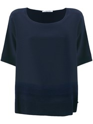 Agnona Round Neck Top Blue