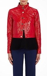 Lisa Perry Women's Snazzy Moto Jacket Red