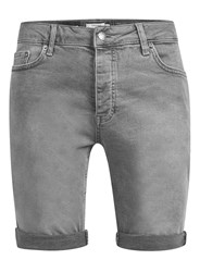 Topman Grey Stretch Skinny Denim Shorts