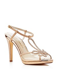 Caparros Claudia Metallic Platform High Heel Sandals Rose