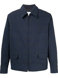 Song For The Mute Jacquard Jacket Blue