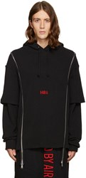 Hood By Air Black Thermal Double Zip Hoodie