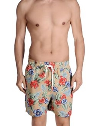 Franklin And Marshall Swimming Trunks Beige