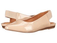 Kenneth Cole Reaction Step Sling Nude Patent Women's Dress Flat Shoes Beige
