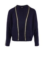 Morgan Silver Trimmed Cardigan Navy