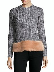 Opening Ceremony Knitted Faux Fur Top Desert