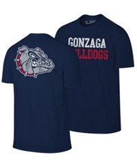 Retro Brand Gonzaga Bulldogs Team Stacked Dual Blend T Shirt Navy Heather