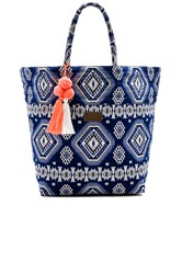 Seafolly Carried Away Beach Bag Blue