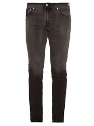 Alexander Mcqueen Ombre Mid Rise Skinny Jeans Grey