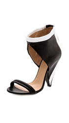 Iro Sisoka Contrast Sandals Black White